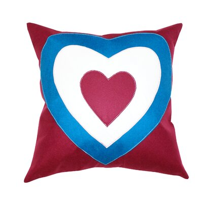 Divine Designs Heart Union Jack 2 Cotton Pillow