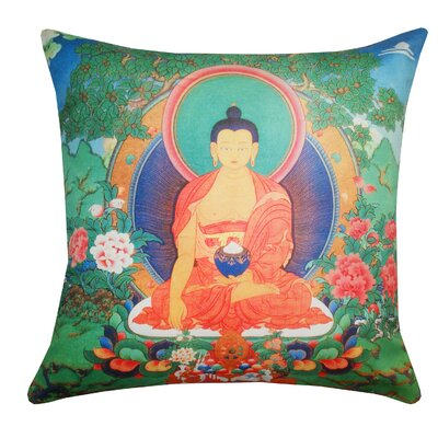 Divine Designs Bold Tankha Polyester Pillow