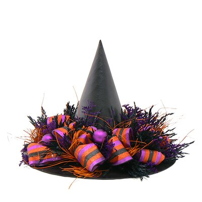 Urban Florals Trick Or Treat Witch`S Hat Wreath
