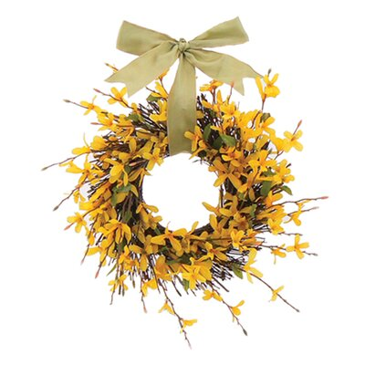 Urban Florals Forsythia Garden Wreath