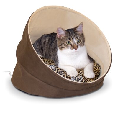 Thermo-Kitty Cave in Chocolate / Tan / Leopard