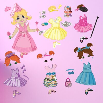 Mona Melisa Designs Peel and Play Doll Wall Decal
