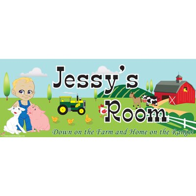 Mona Melisa Designs Farm Boy Name Sign