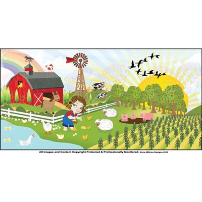Farm Girl Wall Mural
