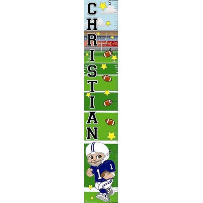 Mona Melisa Designs Football Boy Growth Chart