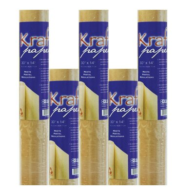 Bazic All-Purpose Natural Kraft Wrap Paper Roll