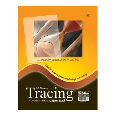 Bazic Tracing Paper Pad (Set of 48)