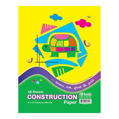 Bazic Construction Paper (Set of 48)