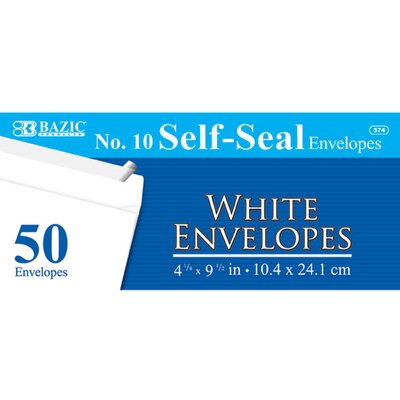 Bazic 50 Ct. Self-Seal Envelopes (Set of 24)