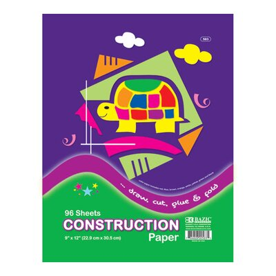 Bazic 90 Ct. Construction Paper (Set of 24)