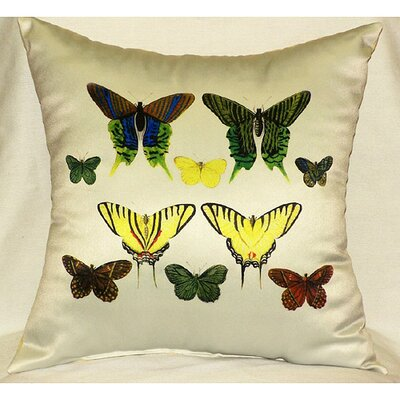 Butterflies Print Pillow