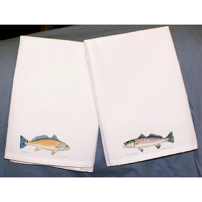 Betsy Drake Interiors Coastal Red Drum Hand Towel