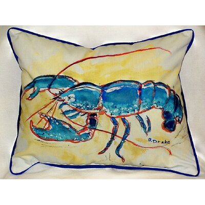 Betsy Drake Interiors Coastal Lobster Indoor / Outdoor Pillow