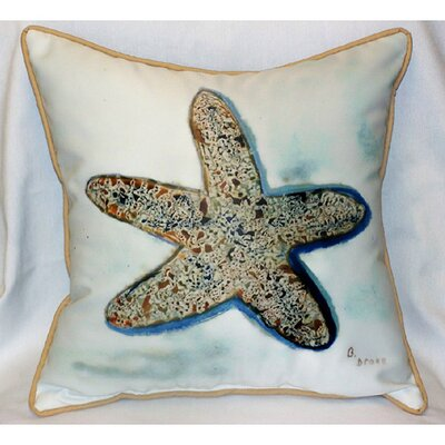 Betsy Drake Interiors Coastal Starfish Indoor / Outdoor Pillow