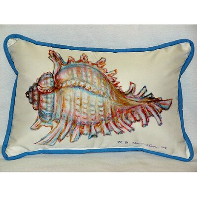 Coastal Conch Shell Indoor / Outdoor Pillow