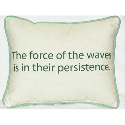Betsy Drake Interiors Thoughts for the Day The Force of the Waves Indoor / Outdoor Pillow
