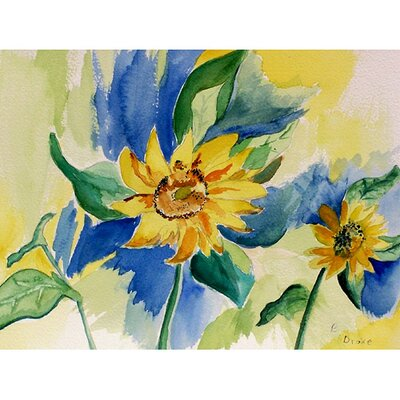 Betsy Drake Interiors Garden Sunflowers Outdoor Wall Hanging