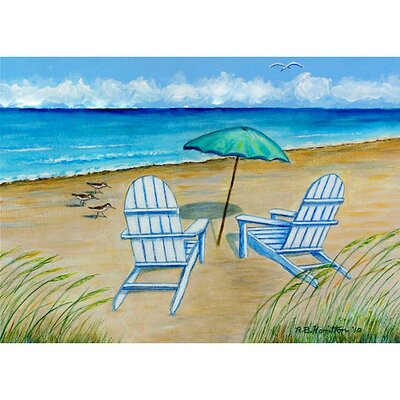 Betsy Drake Interiors Coastal Adirondack Chairs Outdoor Wall Hanging