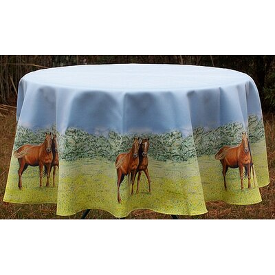 Betsy Drake Interiors Horse Round Tablecloth
