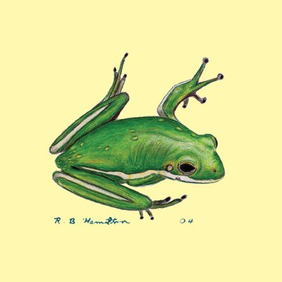 Betsy Drake Interiors Tree Frog Coaster