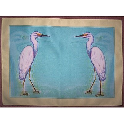 Snowy Egret Placemat (Set of 4)