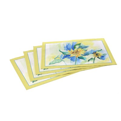 <strong>Betsy Drake Interiors</strong> Sunflowers Place Mat (Set of 4)