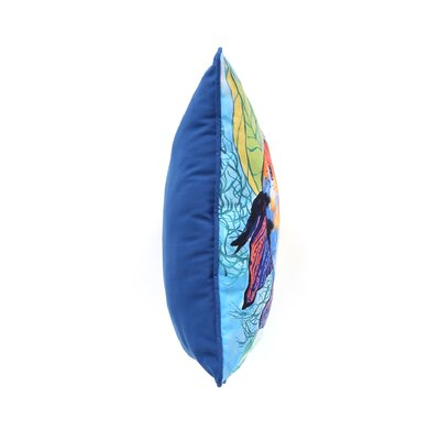 Betsy Drake Interiors Coastal Two Fish Indoor / Outdoor Pillow