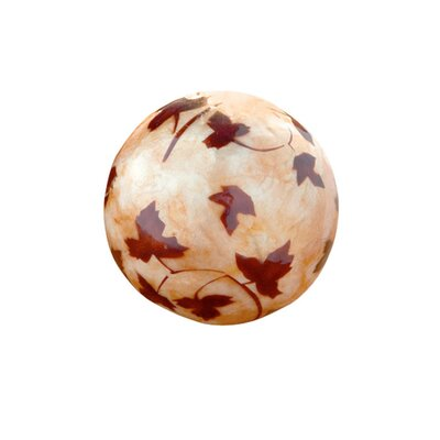 <strong>Dekorasyon Gifts & Decor</strong> Capiz Leaf Decorative Ball (Set of 2)