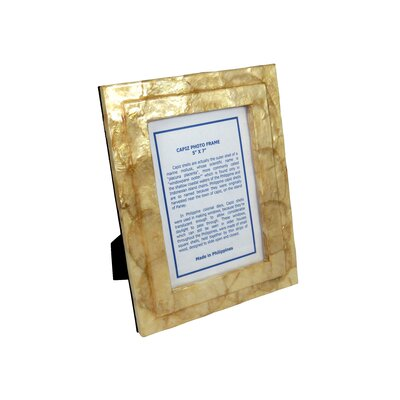 Dekorasyon Gifts & Decor Solid Capiz Picture Frame