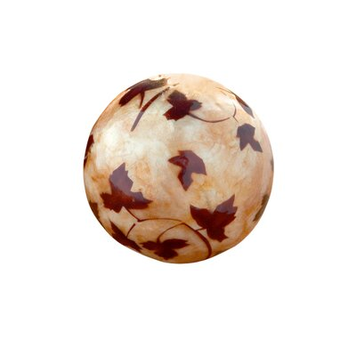 Dekorasyon Gifts & Decor Maple Leaf Capiz Ball (Set of 2)