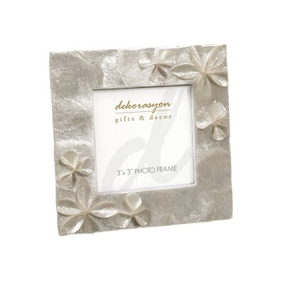 Dekorasyon Gifts & Decor Capiz Picture Frame with Flower Applique