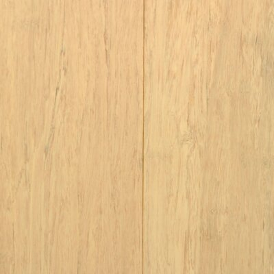 "Islander Flooring 3-5/8"" Solid Stained Strand Bamboo Flooring in White"