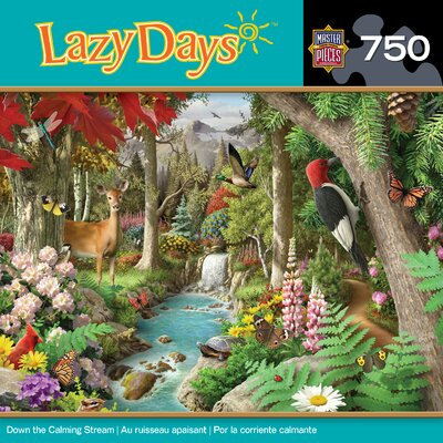 MasterPieces Alan Giana Down the Calming Street 750 Piece Jigsaw Puzzle