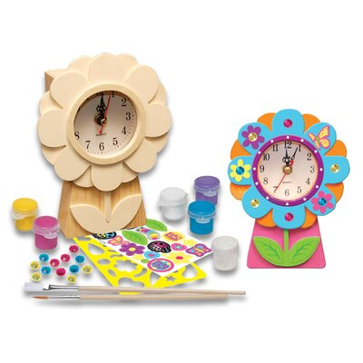 MasterPieces Works of Ahhh Flower Clock Wood Paint Kit