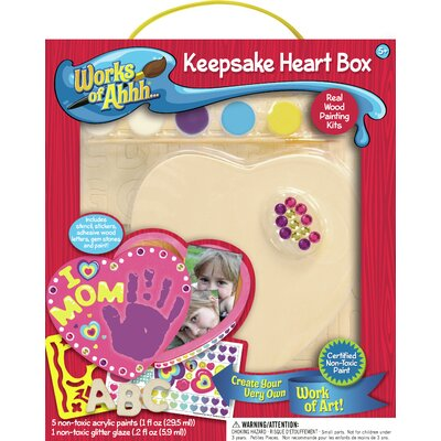 MasterPieces Works of Ahhh Keepsake Heart Box Wood Paint Kit