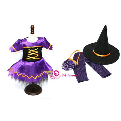"Arianna Hocus Pocus Witch Costume for 18"" American Girl Doll"