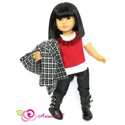 "Arianna Weekend Tweed Outfit for 18"" American Girl Doll"