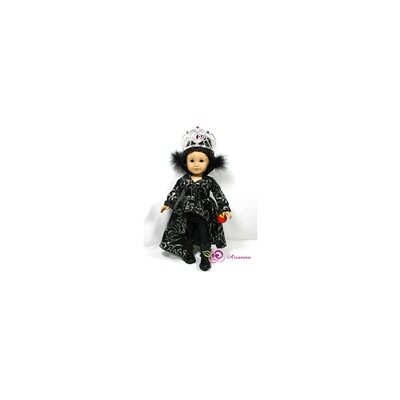 "Arianna Ravena Evil Queen 4 Piece Doll Outfit Set for 18"" American Girl Doll"