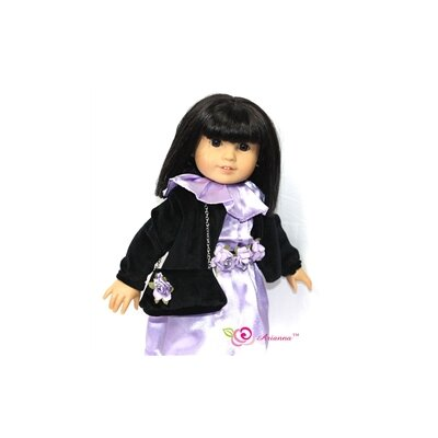 "Arianna Mystic Dress, Caplet and Handbag Doll Outfit for 18"" American Girl Doll"