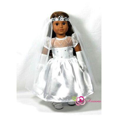 First Holy Comunion 3 Piece Doll Dress Set for 18