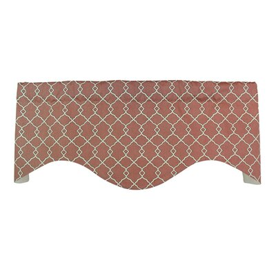 RLF Home Chippendale Shaped Cotton Curtain Valance