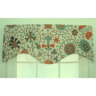 RLF Home Calypso Shaped Cotton Curtain Valance