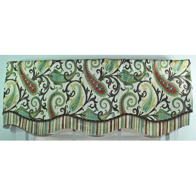RLF Home Gloria Glory Cotton Rod Pocket Scalloped Curtain Valance