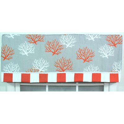 RLF Home Sea Coral Cotton Window Valance
