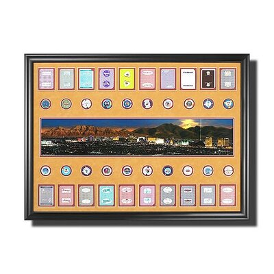 Legendary Art Las Vegas Strip Photo with Casino Chips