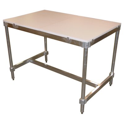 PVIFS Aluminum I Frame Work Table with Poly Top