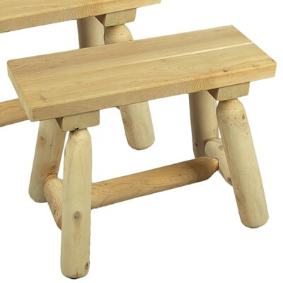 <strong>Rustic Natural Cedar Furniture</strong> 24'' Wood Picnic Bench