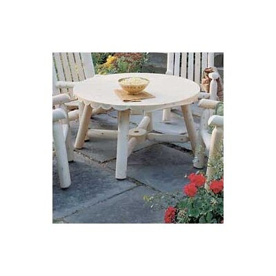 Rustic Natural Cedar Furniture Round Coffee Table