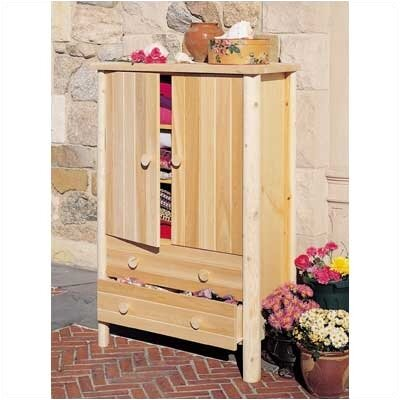Rustic Natural Cedar Furniture Armoire