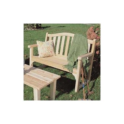 Rustic Natural Cedar Furniture Camel Back Wood Cedar Bench